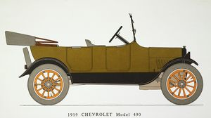 AUTO: CHEVROLET, 1919. Model 490 Chevrolet with standard touring body, 21 HP.