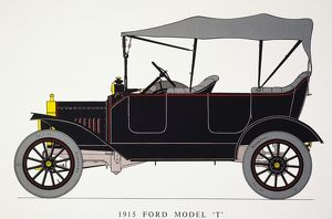 AUTO: MODEL T FORD, 1915. Model T Ford with touring body, 22 HP.