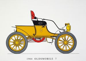 AUTO: OLDSMOBILE, 1904. Oldsmobile with standard 'curved dash' body, 7 HP.