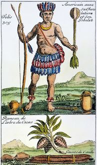 AZTEC: CHOCOLATE, 1685. /nAn Aztec with his chocolate