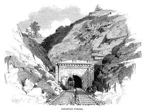 BALTIMORE & OHIO RAILROAD. The Baltimore & Ohio Railroad pass at Kingwood Tunnel