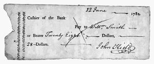 finance commerce/bank check 1782 check bank north america 22