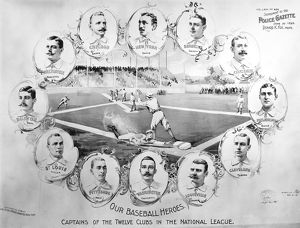 BASEBALL, 1895. Portraits of the captains of the twelve baseball clubs in the National League