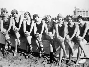 BATHING BEAUTIES, 1916. Silent film, produced by Mack Sennett (1884-1960).