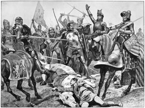 BATTLE OF POITIERS, 1356. 'The last stand of King John of France