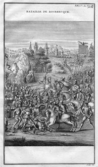 BATTLE OF ROOSEBEKE, 1382. The Battle of Roosebeke, 27 November 1382. French engraving
