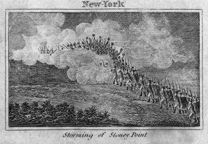 BATTLE OF STONY POINT, 1779. Continental Army soldiers under General Anthony Wayne