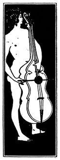 music musicians/beardsley musician title page ornament musical
