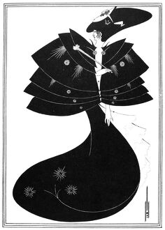 BEARDSLEY: SALOME. 'The Black Cape.' Pen-and-ink drawing by Aubrey Vincent