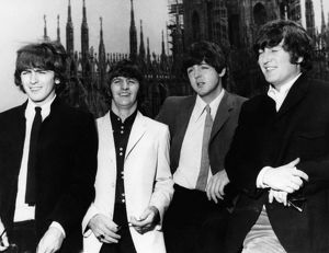 THE BEATLES, 1960s. The Beatles gathered in London in the 1960s. Left to right: George Harrison