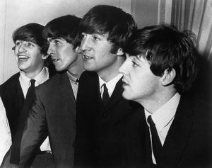 THE BEATLES. From left to right: Ringo Starr, George Harrison, John Lennon, and Paul
