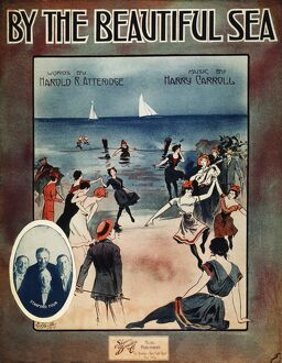 'BY THE BEAUTIFUL SEA', 1914. American sheet music cover, 1914.
