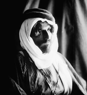 BEDOUIN MAN, c1910. A Bedouin bridegroom. Photograph, c1910.