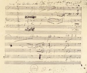BEETHOVEN MANUSCRIPT, 1826. Manuscript page from Ludwig van Beethoven's String