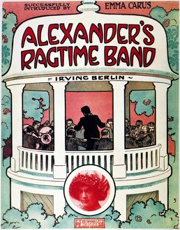 BERLIN: RAGTIME BAND, 1911. Sheet music cover of Irving Berlin's 'Alexander's