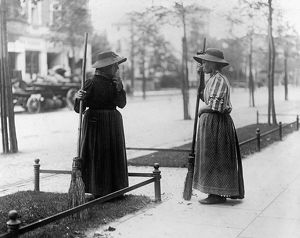 BERLIN: WORKERS, c1915. Women street sanitation workers in Berlin, Germany. Photograph