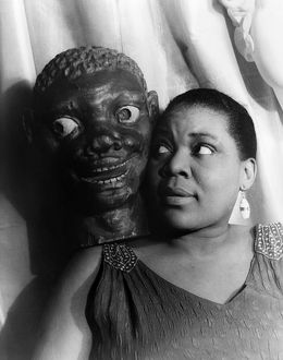 BESSIE SMITH (1894-1937). American singer and songwriter. Photograph, by Carl Van Vechten