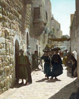 BETHLEHEM: STREET, c1919. Street leading to the Church of the Nativity in Bethlehem