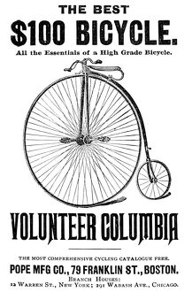 BICYCLE ADVERTISEMENT, 1888. American newspaper advertisement, 1888.