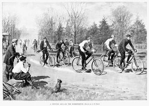 BICYCLE RACE, 1896. 'A Century Run - On the Homestretch