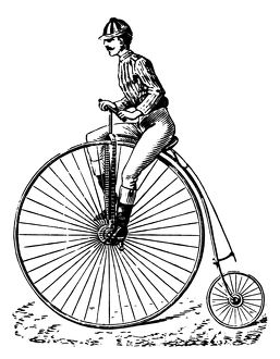 BICYCLING, c1890.