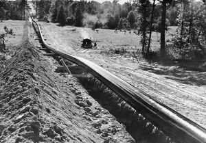 The 'Big Inch,' a petroleum pipeline (at the time the largest in the world)