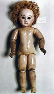 Bisque doll, French, c1885.