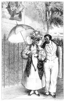 african american history/black couple 1832 lithograph frances trollopes