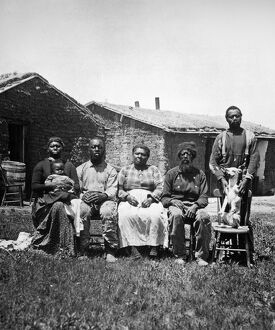 african american history/black homesteaders black family photographed