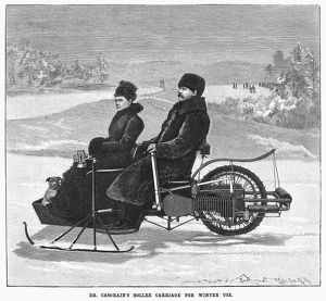 BOLLEE CARRIAGE, 1898. 'Dr. Casgrain's Bollee carriage for winter use