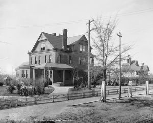 BOOKER T. WASHINGTON HOME. The residence of Booker T