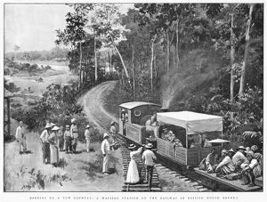 BORNEO: RAILROAD, 1899. A railroad station in British North Borneo