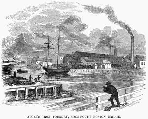BOSTON: FOUNDRY, 1855. Cyrus Alger's iron foundry in Boston, Massachusetts