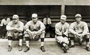 BOSTON RED SOX, c1916. Members of the Boston Red Sox baseball team, c1916. Left to right: George H