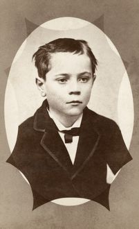 BOY, c1880. Portrait of a young boy. Carte de visite photograph, c1880