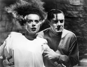 BRIDE OF FRANKENSTEIN, 1935. Elsa Lanchester and Colin Clive in 'The Bride of Frankenstein