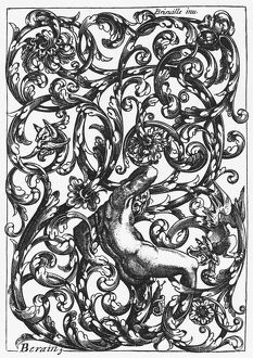BRISVILLE: TITLE PAGE. Page for a book of designs for locks, by Hugues Brisville