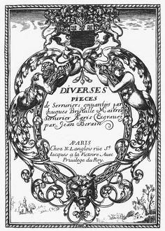 BRISVILLE: TITLE PAGE. Title page for a book of designs for locks, by Hugues Brisville