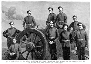 BRITISH ARMY: ARTILLERY. The Number 4 detachment of the Third Middlesex Artillery