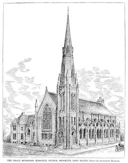 BROOKLYN: CHURCH, 1883. The Grace Methodist Episcopal Church in Brooklyn, New York