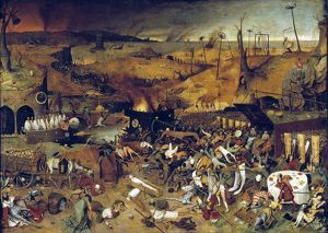 BRUEGEL: TRIUMPH OF DEATH. Triumph of Death; tempera on panel, c1562, by Peter Bruegel