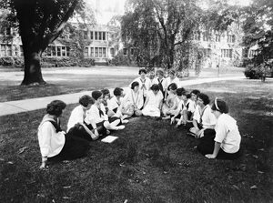BRYN MAWR COLLEGE, c1916. Labor summer school for women workers in Bryn Mawr, Pennsylvania