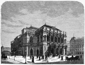 BUDAPEST: OPERA HOUSE. View of the Royal Opera House (later renamed the Hungarian