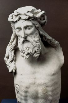 Bust of Christ Crucified. Marble, 1395-99, by Claus Sluter.