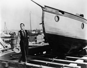 BUSTER KEATON (1896-1966). American comedian. In the film 'The Boat,' 1922.