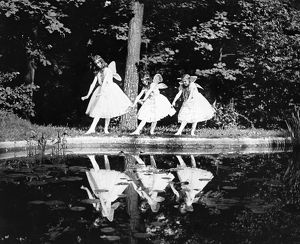 BUTTERFLY DANCE, 1920. Katherine Deming, Alice Deming and Evelyn Lechler in the