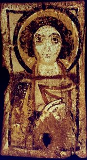 BYZANTINE ICON. Representing an archangel. 6th century.