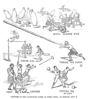 CALEDONIAN GAMES, 1867. Events of the Caledonian Games, held at Jones' Wood in