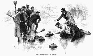 CALEDONIAN GAMES, 1890. 'The 'Roaring Game' of Curling' at the