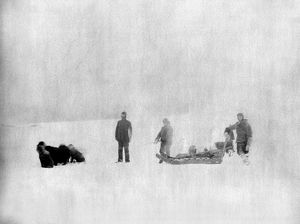 CANADA: EXPEDITION, c1882. Sergeant Jewell and an Eskimo identified as Christiansen